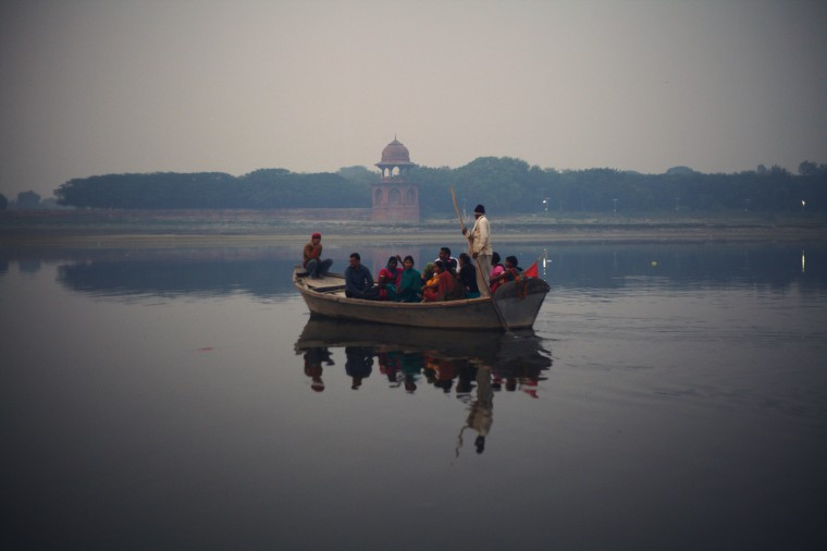 Boating on yamuna river